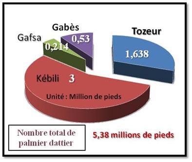 Nombre total des palmiers dattiers